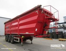 Kempf Semitrailer Tipper Steel half pipe body